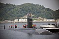 The attack submarine USS Santa Fe (SSN 763) arrives at commander, Fleet Activities Yokosuka in Japan, Aug. 8, 2013, for a scheduled port visit during a routine deployment to the western Pacific region 130808-N-MF277-025.jpg