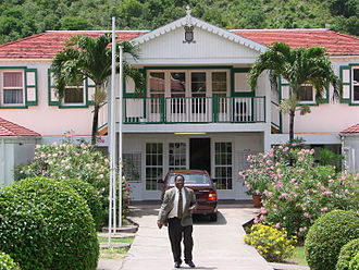 Saba - Saba's government house.