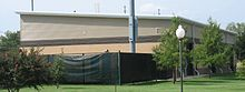 A The Justin D. Wilson indoor practice facility, on the right field line