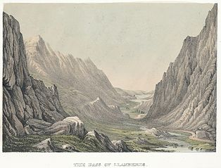 The pass of Llanberis. (Carnarvonshire, north Wales)