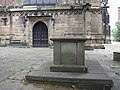 The tomb of Eliugh Yale and west door of St Giles' - geograph.org.uk - 1472663.jpg
