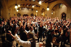 Theatre of the Oppressed -  Participants in a workshop on the Theatre of the Oppressed in New York City. Riverside Church, May 13, 2008.