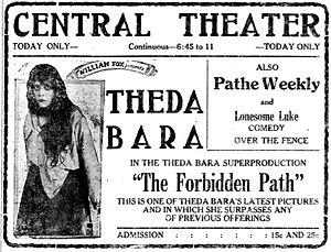 The Forbidden Path - Newspaper advertisement.