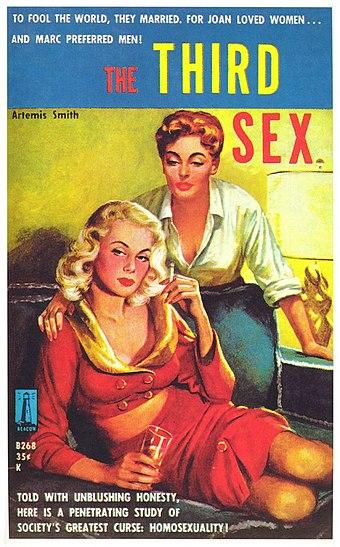 Artemis Smithの1959年のレズビアンパルプフィクション小説The Third Sexの表紙