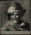 Thomas Parr, said to have lived 152 years. Line engraving. Wellcome V0007250.jpg