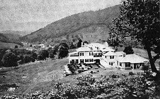 Three Hills (Warm Springs, Virginia) - Three Hills, home of novelist Mary Johnston, Warm Springs, Virginia, 1915.