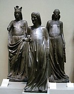 Three figures from Bamberg cathedral (13th century, casting in Pushkin museum) 02 by shakko.jpg