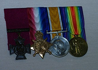 Hugo Throssell - Throssell's medals on display at the Australian War memorial
