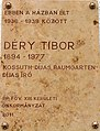 Tibor Déry plaque Bp13 JászaiMari5.JPG