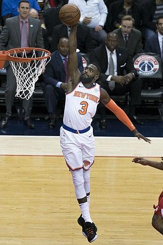 Tim Hardaway Jr. - Hardaway with the Knicks in 2018