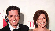 Time 100 Stephen Colbert and wife