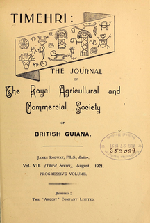 The Royal Agricultural and Commercial Society of British Guiana