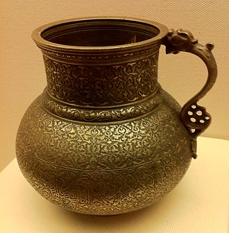 Herat - Brass cup or tankard, Timurid period, 15th century A.D., from Herāt.