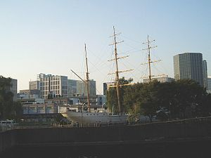 Tokyo University of Marine Science and Technology - The former school ship Un'yō-maru, used by the Imperial Fisheries Institute from 1909 to 1929.