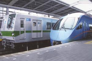 Tokyo subway - Tokyo Metro 6000 series and Odakyu 60000 series MSE Romancecar EMUs at Yoyogi-Uehara