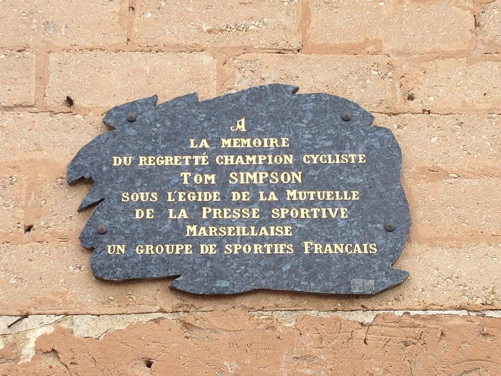 Tom Simpson memorial, Bedoin, France