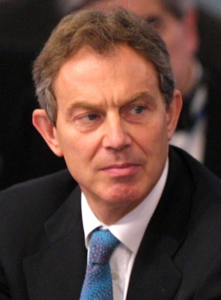 British Prime Minister Tony Blair, with whom Mugabe had a particularly antagonistic relationship Tony Blair in 2002.jpg