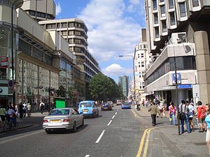 Tottenham Court Road - Tottenham Court Road looking north with the Euston Tower in the distance