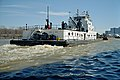 Towboat James G. Hines upbound in Portland Canal Louisville Kentucky USA Ohio River mile 605 1999 file 99b025.jpg