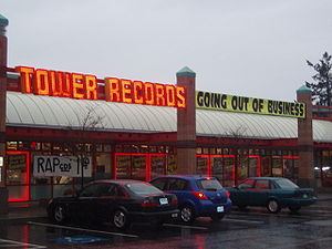 A Tower Records store holding a liquidation sa...