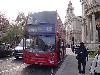 London Buses route 26 - Tower Transit Alexander Dennis Enviro400 in April 2014