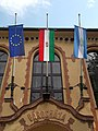 Town hall, flags, 2018 Pesterzsébet.jpg