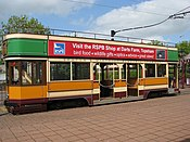 Tram at Seaton terminus - geograph.org.uk - 1285347.jpg