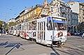Tram in Sofia near Central mineral bath 2012 PD 029.jpg