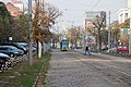 Tram in Sofia near Russian monument 001.jpg