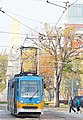 Tram in Sofia near Russian monument 026.jpg