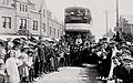 Tramway opening on Otley Road Guiseley, Yorkshire England 1909.JPG
