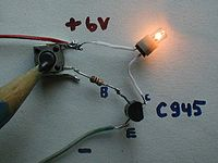 Transistor switch circuit photo on.jpg