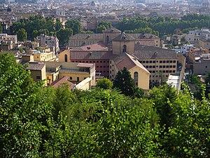 Roma, Regina Coeli dal Gianicolo.