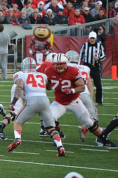 Travis Frederick in action vs OSU.jpg