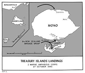 Battle of the Treasury Islands - Treasury Islands landings, October 1943