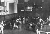Courtroom during the trial of Soghomon Tehlirian