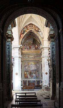 La cappella Pucci, affrescata da Perin del Vaga e dai fratelli Zuccari