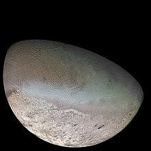Triton as seen from Voyager 2