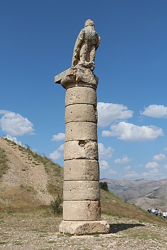 Kingdom of Commagene - Eagle-topped column from the royal burial mound at Karakuş