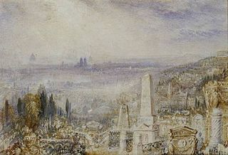 View of Paris from Père la Chaise.