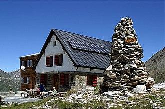 Oberems - Building in the Turtmann valley