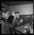 Tuskegee airmen playing cards in the officers club 13265u.tif