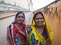 Two Indian women in traditional clothing (33569372385).jpg