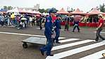 Two Soldiers of ROCAF Taking Hand Truck in 2016 Ching Chuang Kang Air Force Base Open Day 20161126.jpg