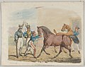 Two Soldiers of a Cavalry Unit, with Horses and Grooms MET DP835545.jpg