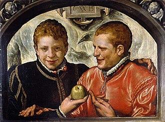 Crispin van den Broeck - Two Young Men  Crispin van den Broeck (Dutch), ca. 1590; Oil on panel; Fitzwilliam Museum, Cambridge