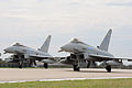Typhoon Aircraft Depart RAF Coningsby for their New Home at RAF Leuchars in Scotland MOD 45151815.jpg