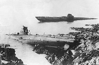 German Type UB III submarine - Image: U Boats grounded Falmouth 1921 HD SN 99 02368