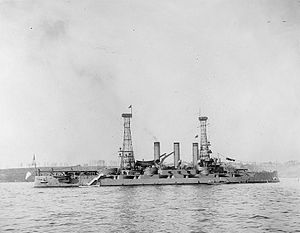 USS Louisiana (BB-19) - Louisiana in New York City during a Naval Review in 1911
