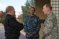 U.S. Army Gen. Martin E. Dempsey, left, the chairman of the Joint Chiefs of Staff, talks with outgoing U.S. Strategic Command Commander Air Force Gen. C. Robert Kehler, right, and incoming U.S. Strategic Command 131114-D-KC128-076.jpg